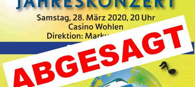 ABGESAGT / Jahreskonzert Samstag, 28. März 2020