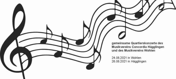 Quartierskonzerte zusammen mit dem Musikverein Concordia Hägglingen