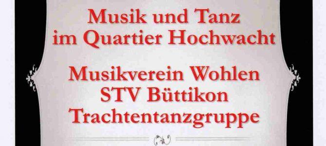 Quatierskonzert an der Hochwachtstrasse findet definitiv am 18.06.2019 statt